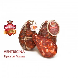Ventricina tipica in vescia dolce (sottovuoto) da 950g - F.lli Bruno